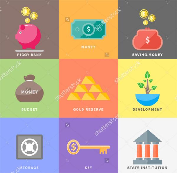 Multicolor Money Icons