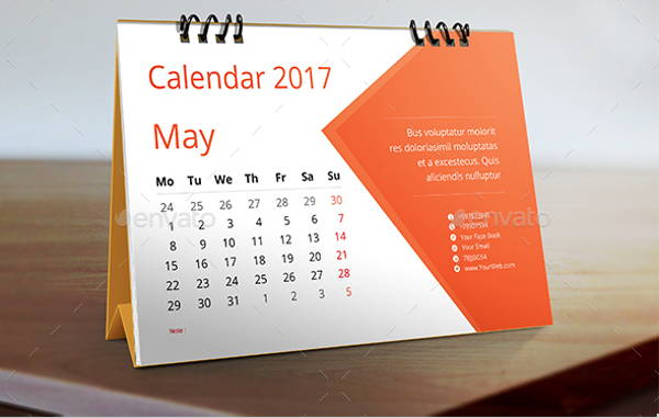 Table Calendar Design : Desk calendar designs