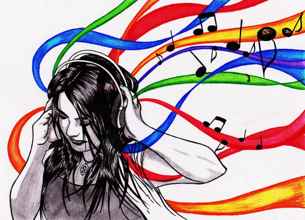 Music Inspired Drawing