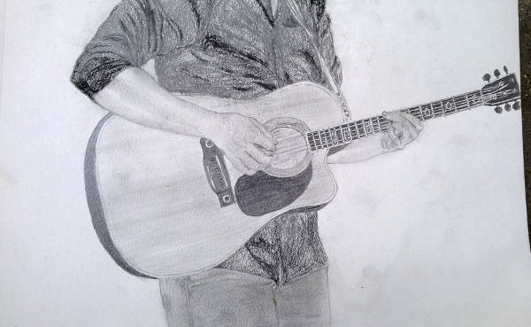 Music Pencil Drawing