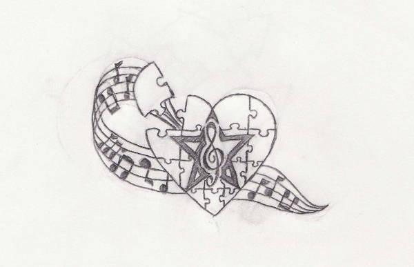 Music Tattoo Drawing