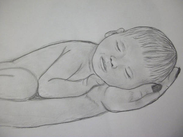 New Born Baby Drawing