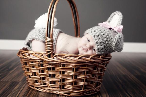 Newborn Basket Photography