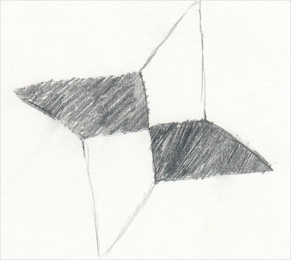 Ninja Star Drawing