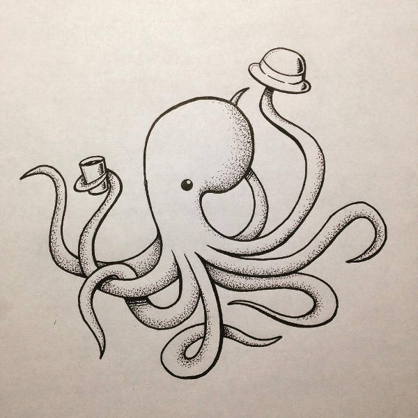 Octopus Art Drawing