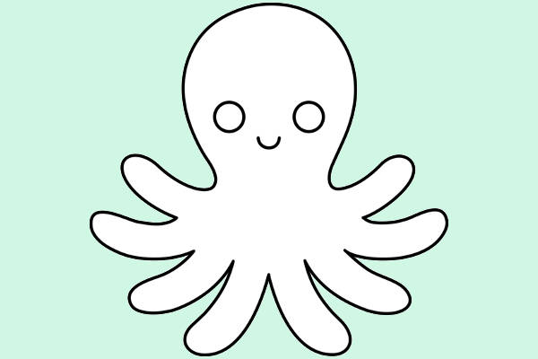 Octopus Outline Clip Art