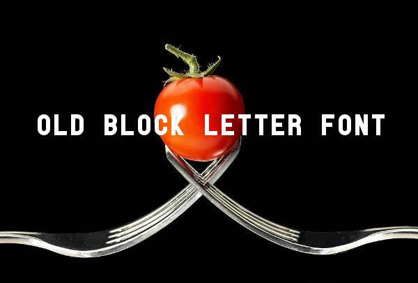 Old Block Letter Font