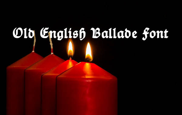 old english ballade font