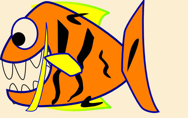 Orange Fish Vector Clip Art
