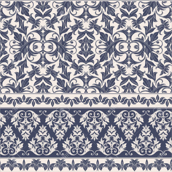 Ornamental Damask Pattern