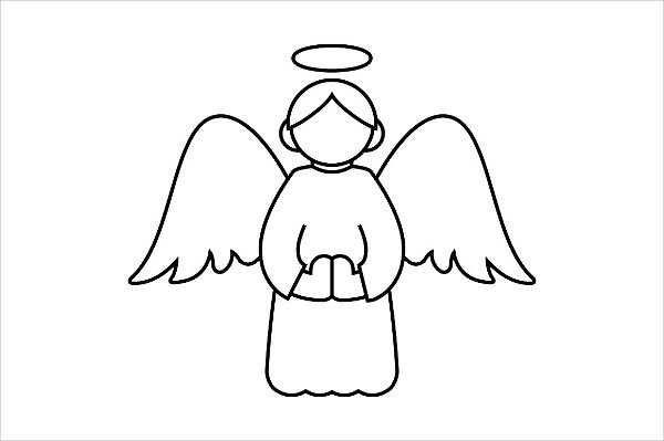 Outline Angel Silhouette