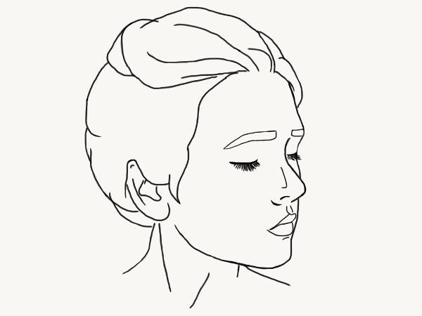 Outline Portrait Drawing
