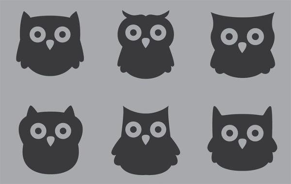 Owl Black Silhoutee