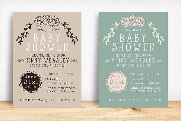 PSD Baby Shower Invitation