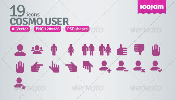 PSD User Icons