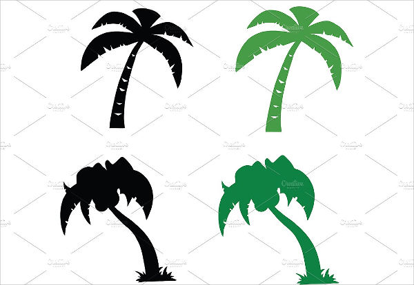 Palm Tree Silhouette Clipart