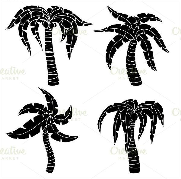 Palm Tree Silhouette Painting