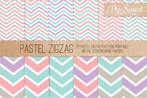 Pastel Zig Zag Pattern