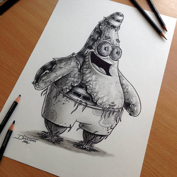 Patrick Star Drawing