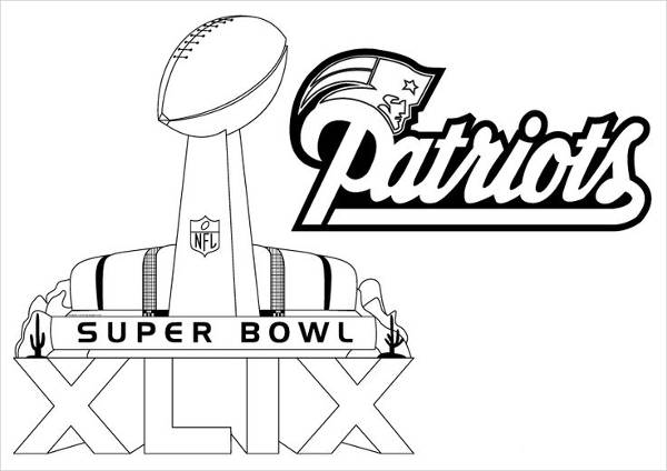 Free patriots coloring pages ~ 9+ Football Coloring Pages - JPG Download