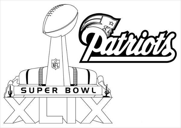 Patriots Football Coloring Page