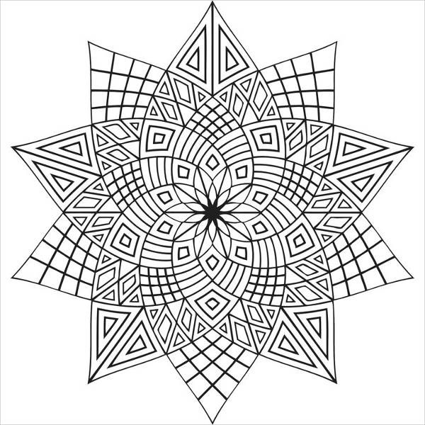 Pattern Coloring Page for Adults