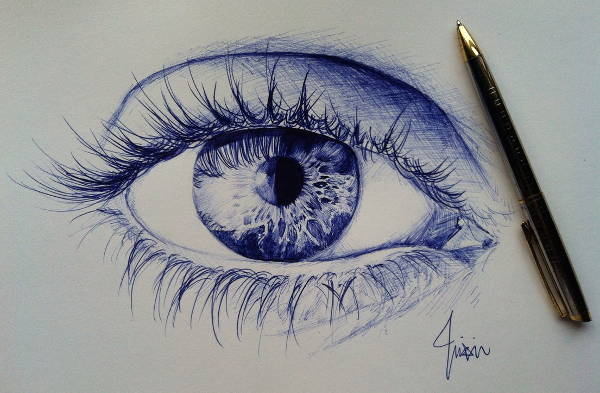 Pen Drawings of Eyes