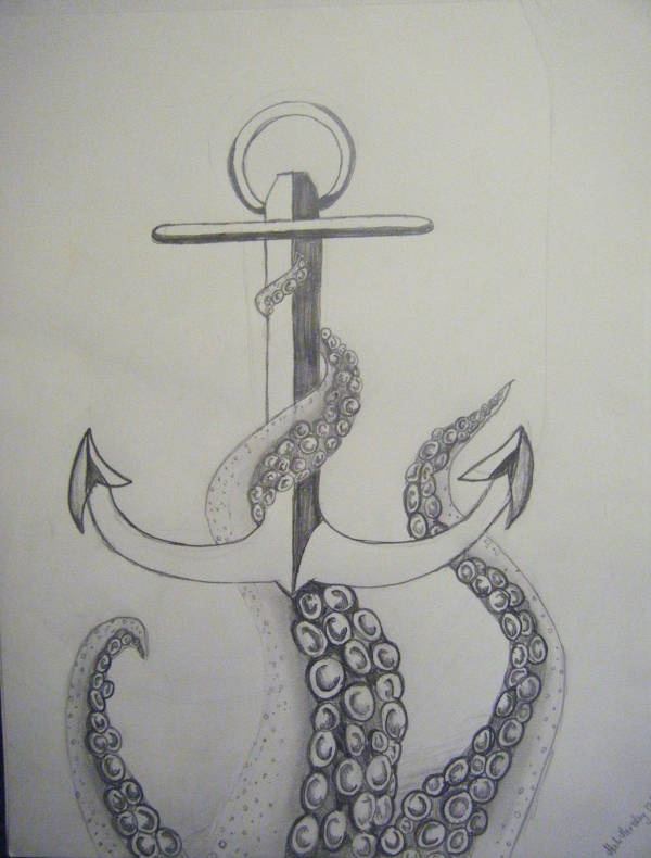 Pencil Drawing of Anchors