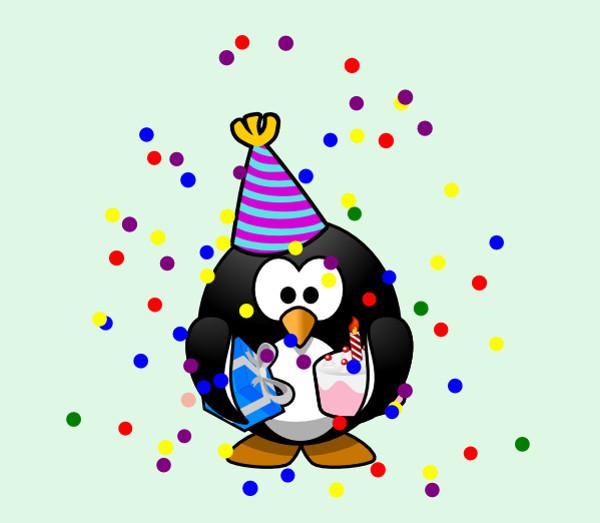 Penguin Birthday party Clip Art