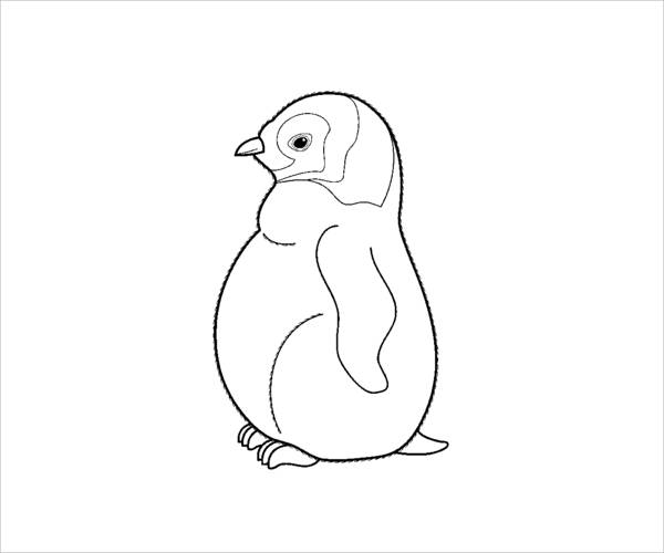 Penguin Chick Coloring Page