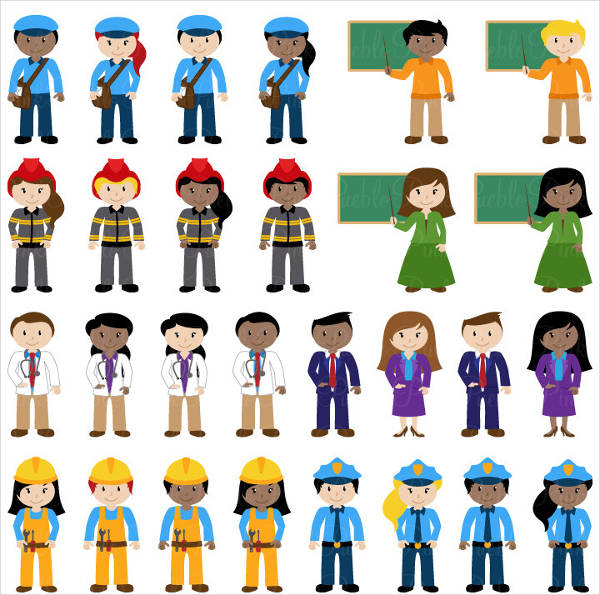 People Colorful Clipart
