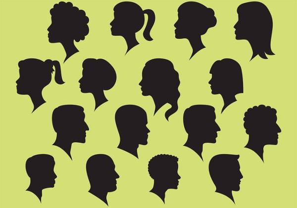 People Faces Silhouettes