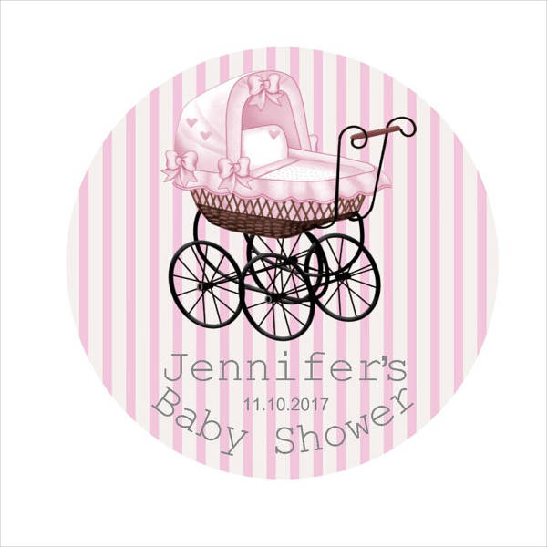 Personalized Baby Shower Sticker