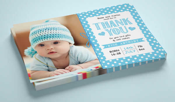Personalized Baby Thank You Card