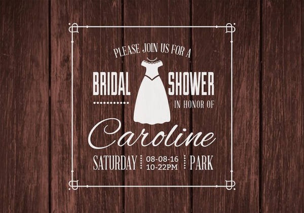 Personalized Bridal Shower Invitation