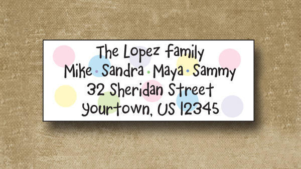 Personalized Family Address Label