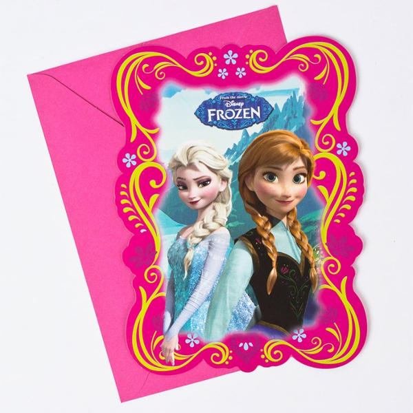 Personalized Frozen Birthday Party Invitation