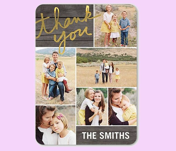 Personalized Greeting Thankyou Card
