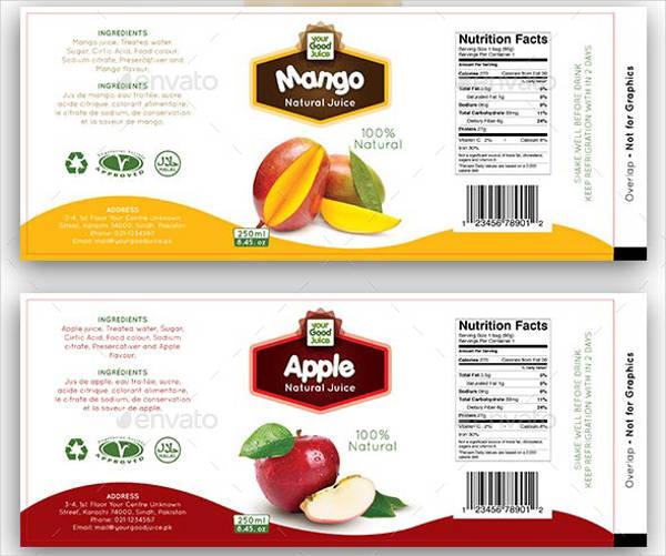 Personalized Juice Bottle Label