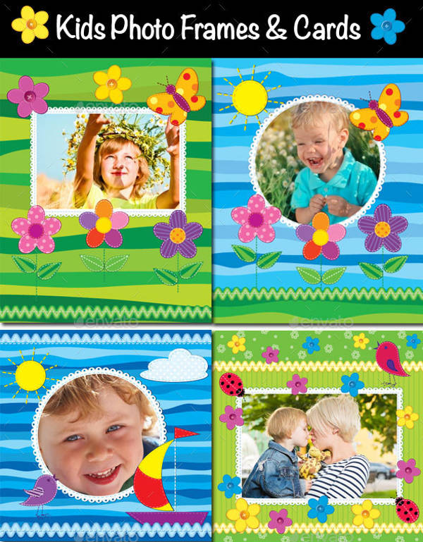 Personalized Kids Photo Frame Invitation