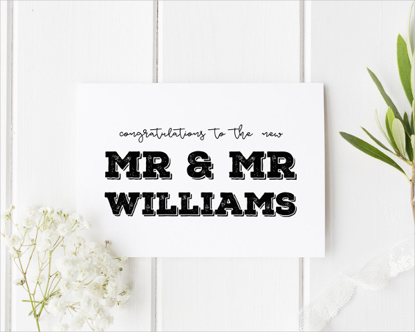 Personalized Wedding Greetings