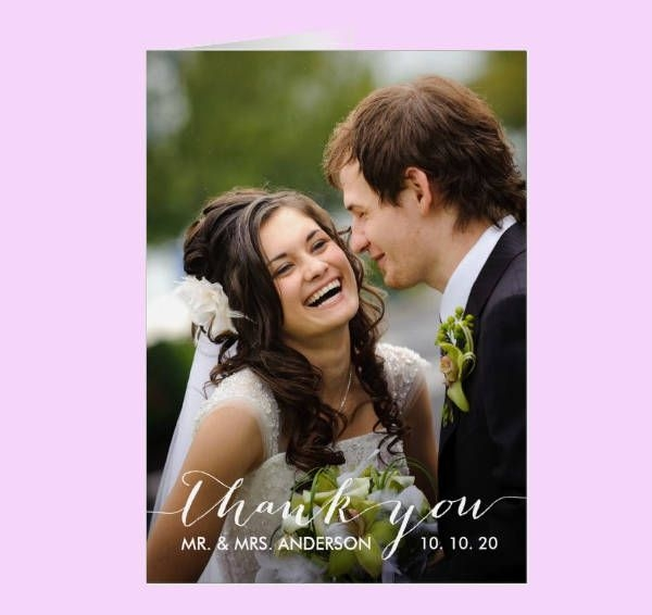 Personalized Wedding Photo Thank You Card