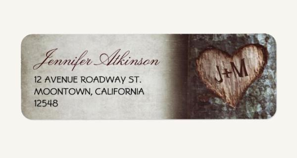 Personalized Wedding Return Address Label