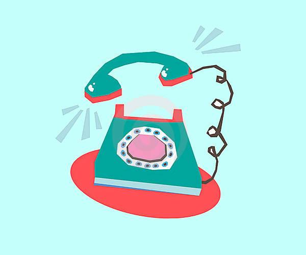 Phone Ringing Clipart