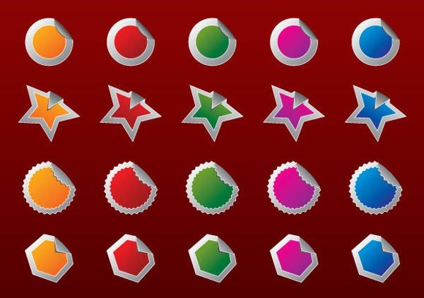 Photoshop Badges Shapes