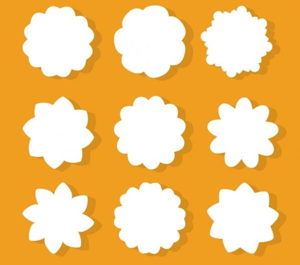Photoshop Flower Shapes