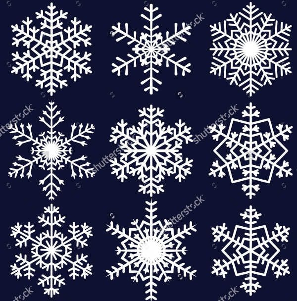 Photoshop Snowflakes Shapes