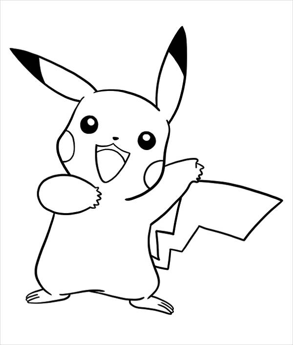 Pikachu Anime Coloring Page