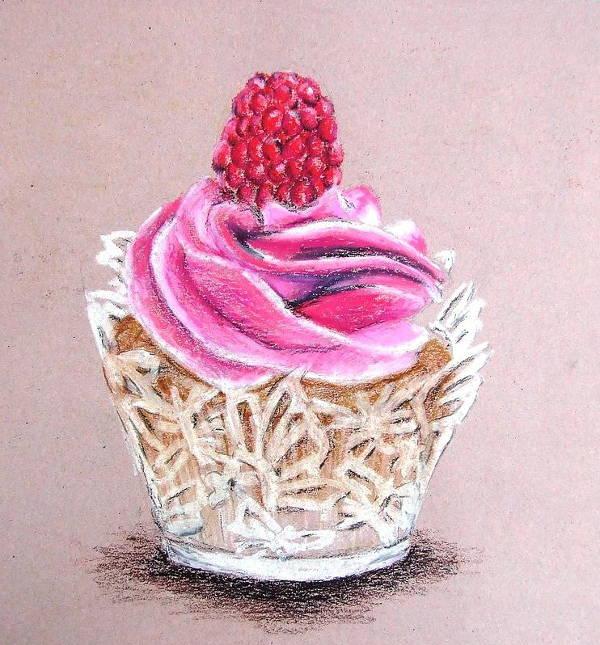 pink cupcake drawing