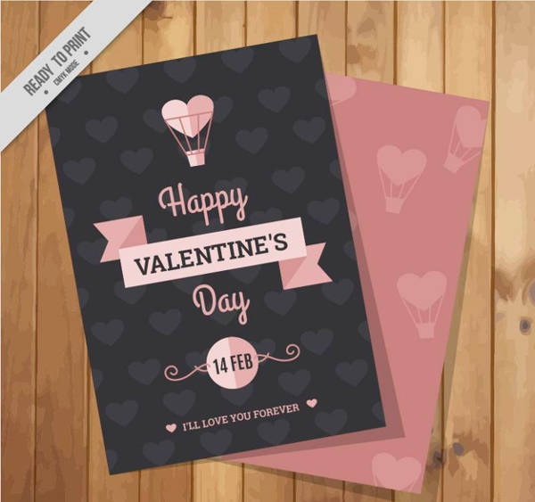 Pink Printable Valentine Card Design